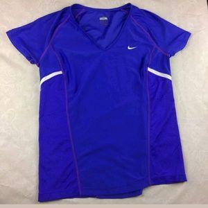 Purple Nike top Fit dry sz M